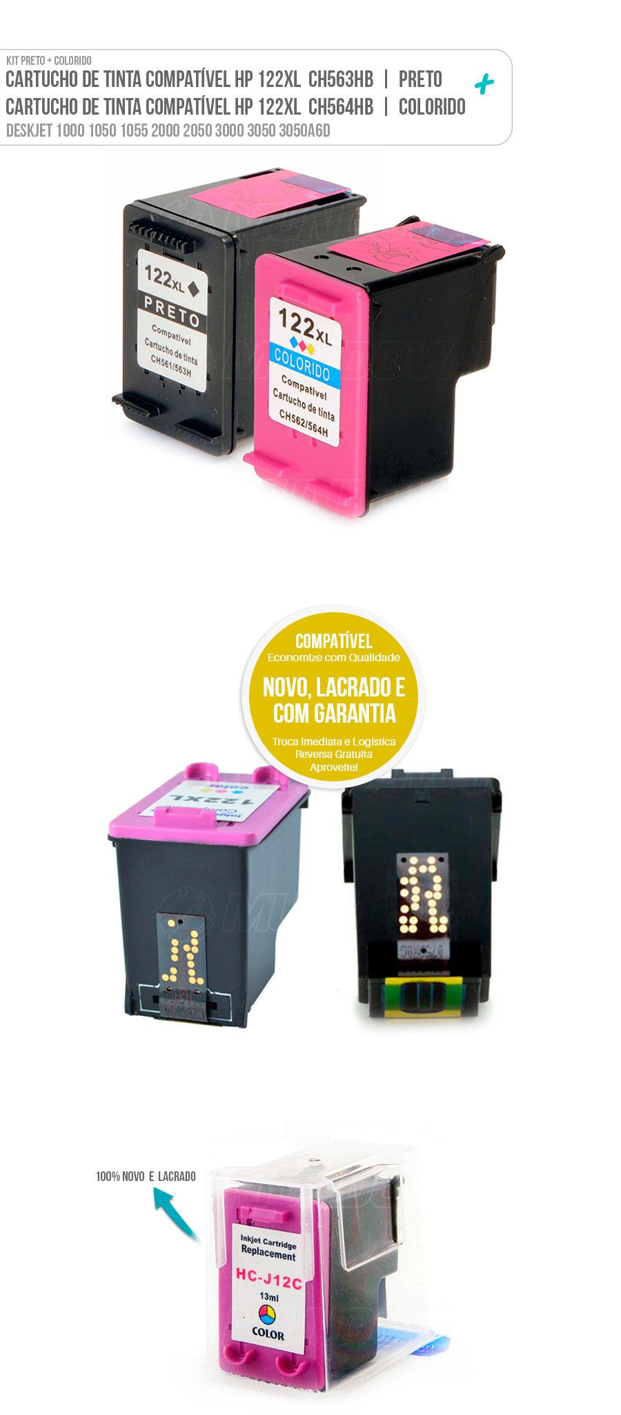 Cartucho de Tinta Deskjet Colorido Color Black 122 122xl