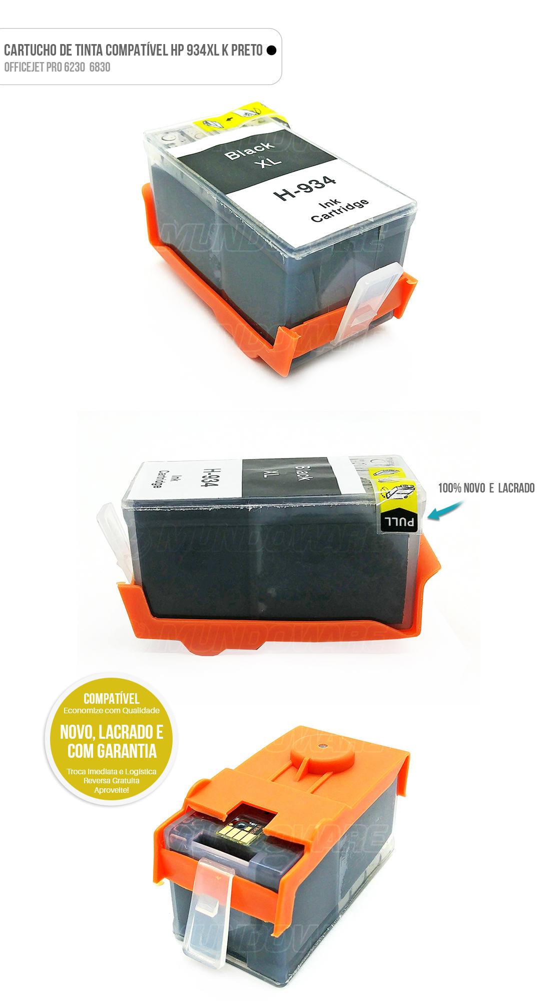 Cartucho de Tinta compatível 935xl 935 xl Preto para impressora 6230 6830
