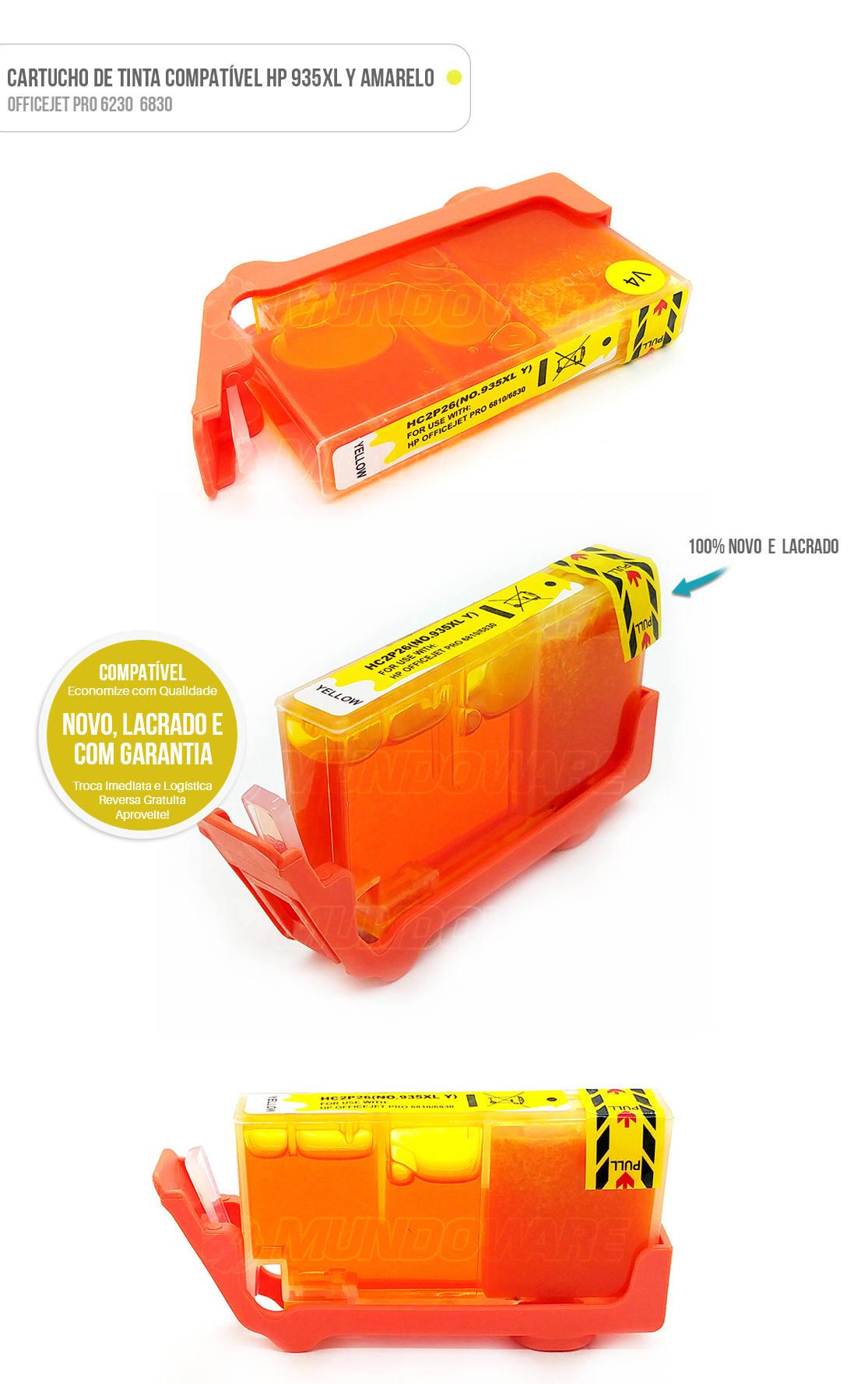 Cartucho de Tinta compatível 935xl 935 xl Amarelo para impressora 6230 6830