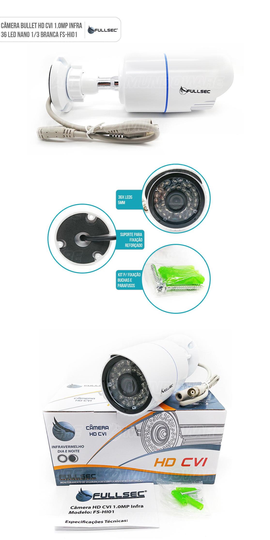 Câmera  de Segurança Bullet HD CVI 1.0MP 36x Led IR 30 metros