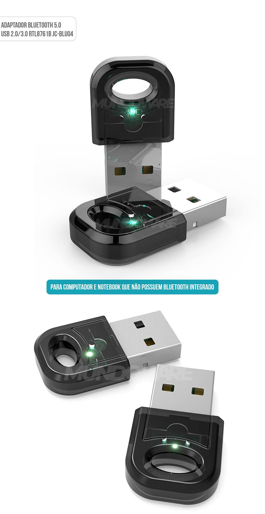 Adaptador USB Bluetooth 5.0 para Computador e Notebook Dongle JC-Blu04