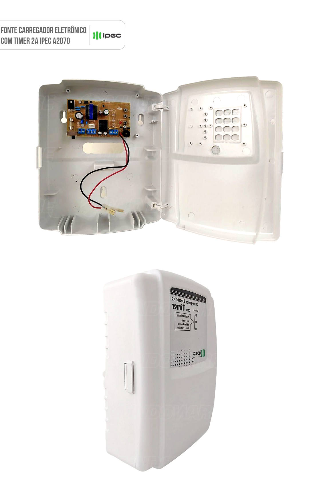 Fonte Carregador Eletrônico com Timer 2A IPEC A2070