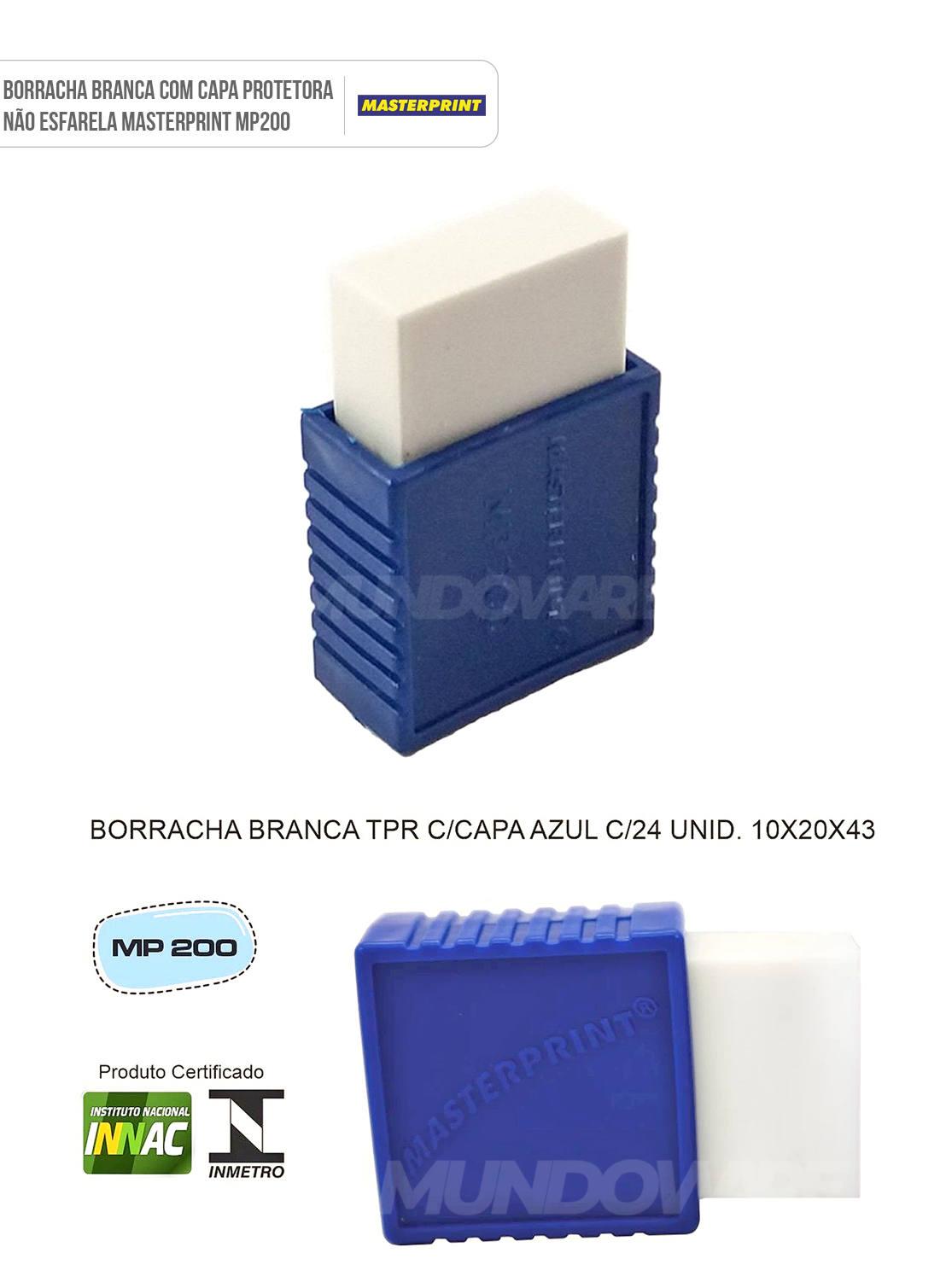 Borracha Branca com Capa Protetora Não Esfarela Masterprint MP200