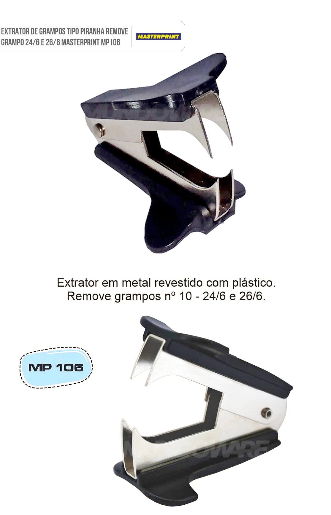 Extrator de Grampos Tipo Piranha Remove Grampo 24/6 e 26/6 Masterprint MP-106