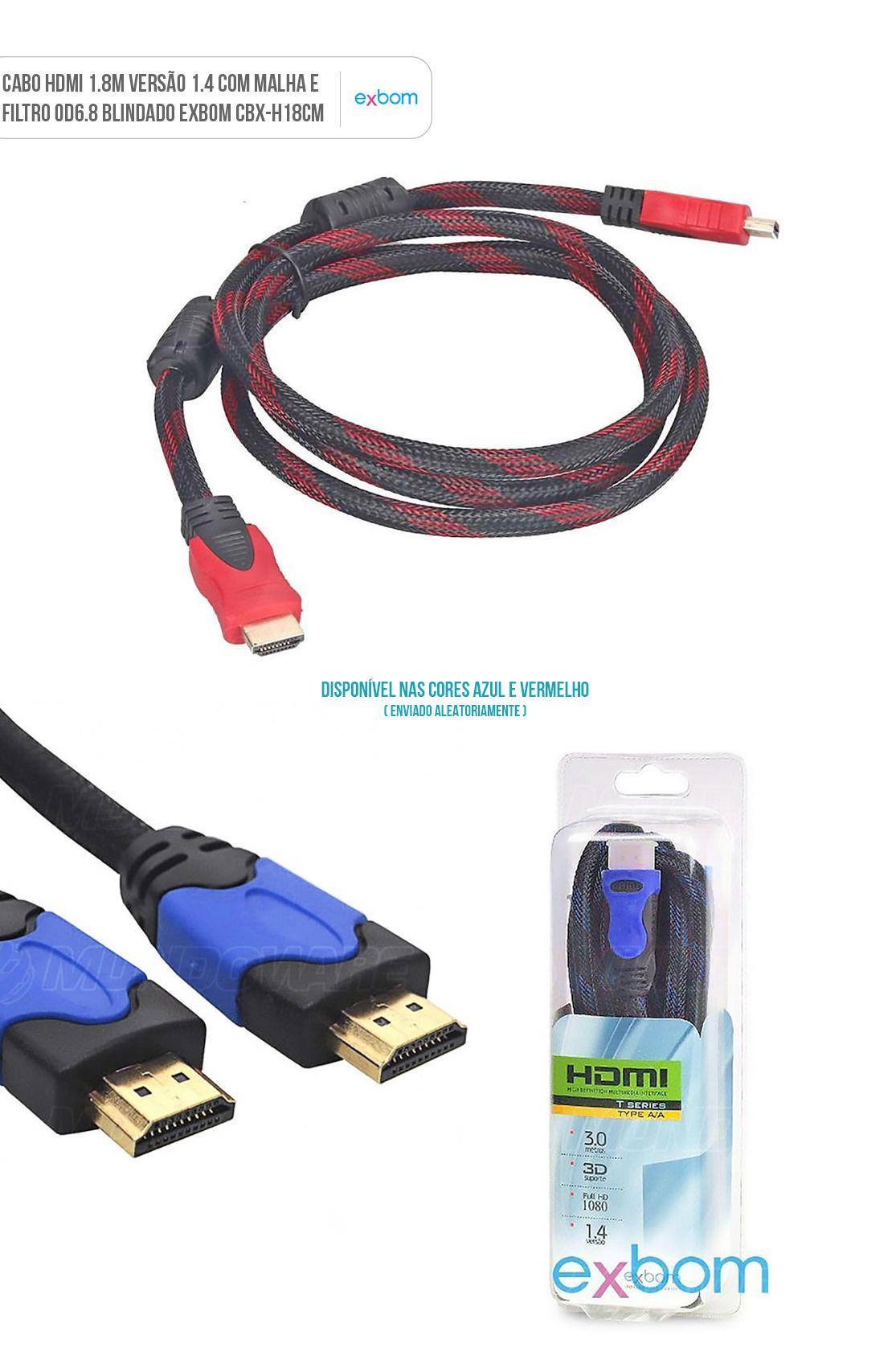 Cabo HDMI com Malha e Filtro Blindado