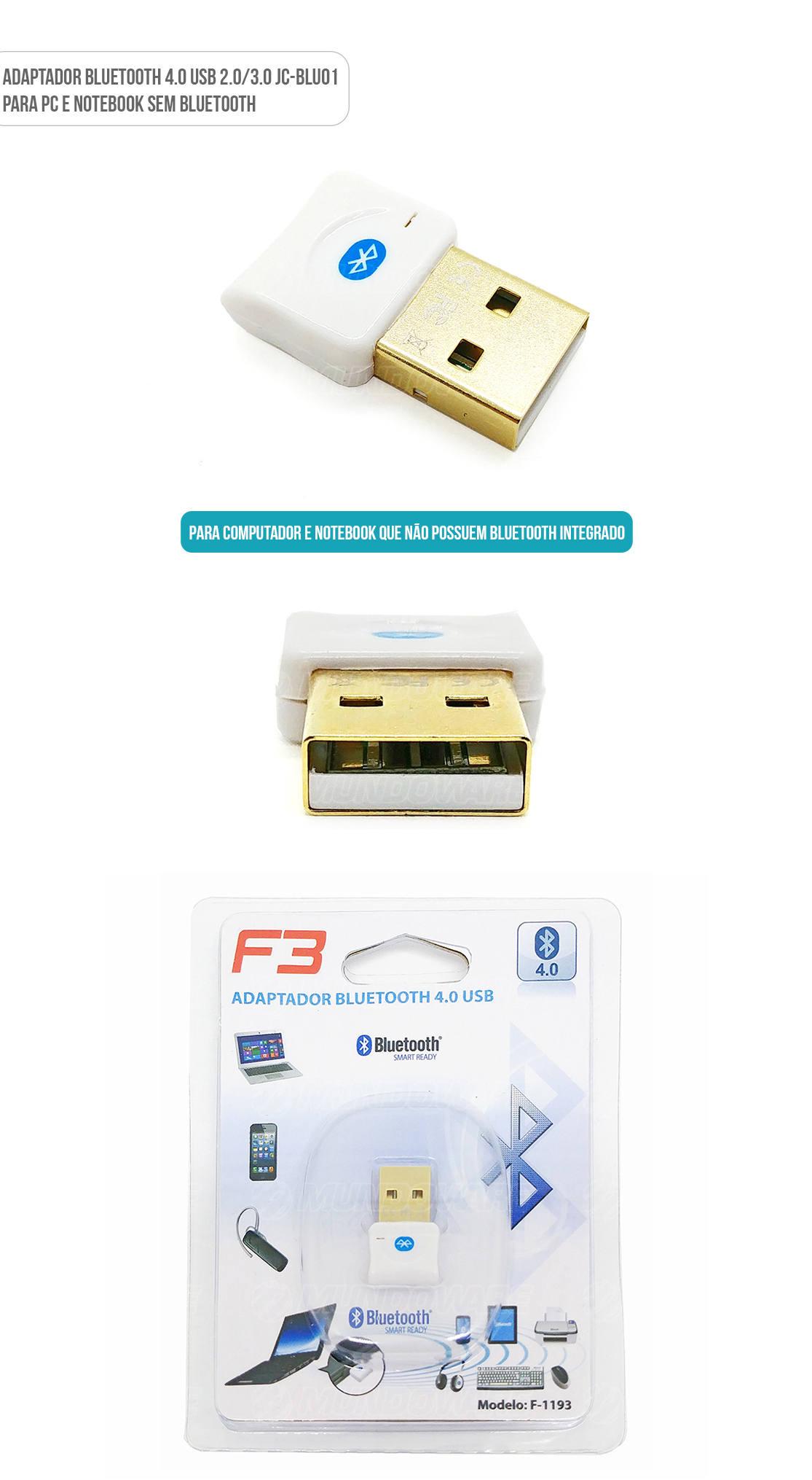Adaptador Bluetooth 4.0 USB para PC Desktop Note JCBLU01