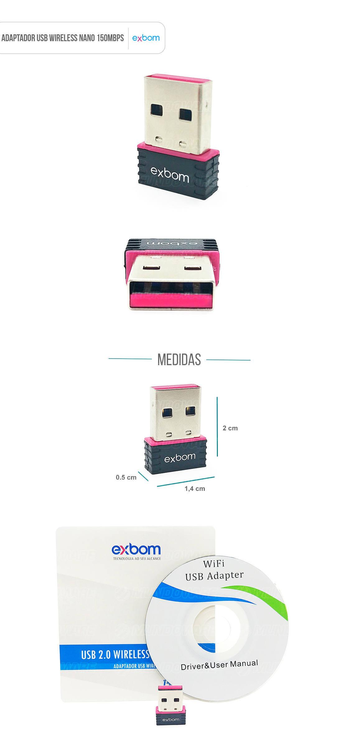 Adaptador Wireless USB Nano