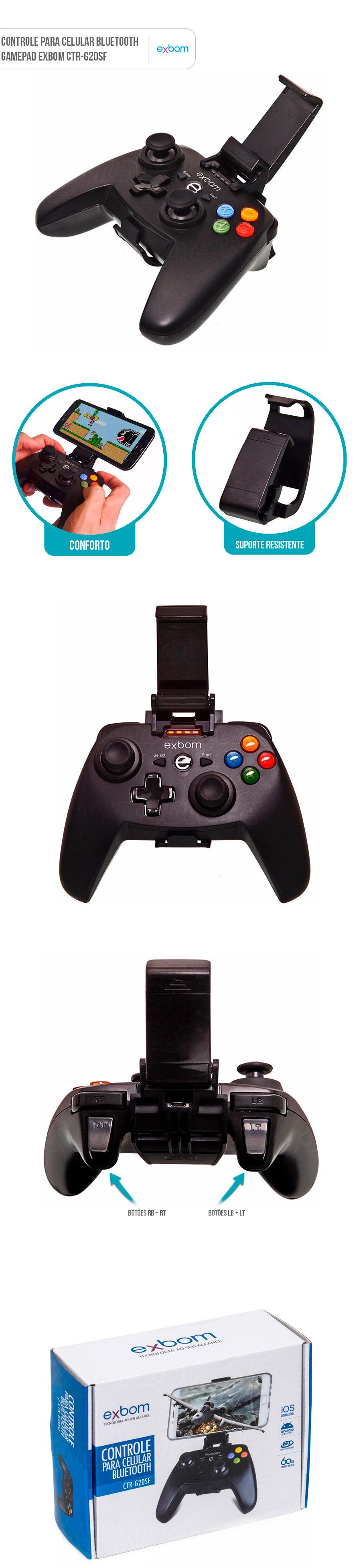 Controle para Smartphone Bluetooth Gamepad