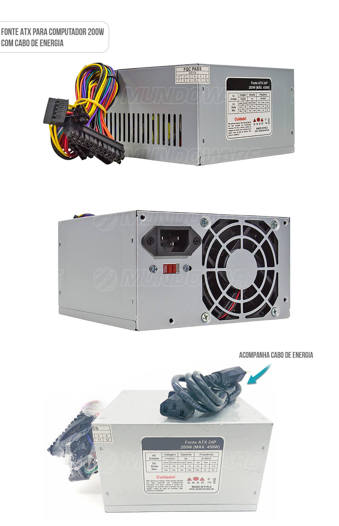 Fonte ATX para computador comum