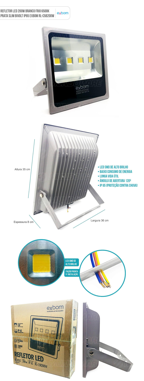 Refletor LED 200W Bivolt IP65