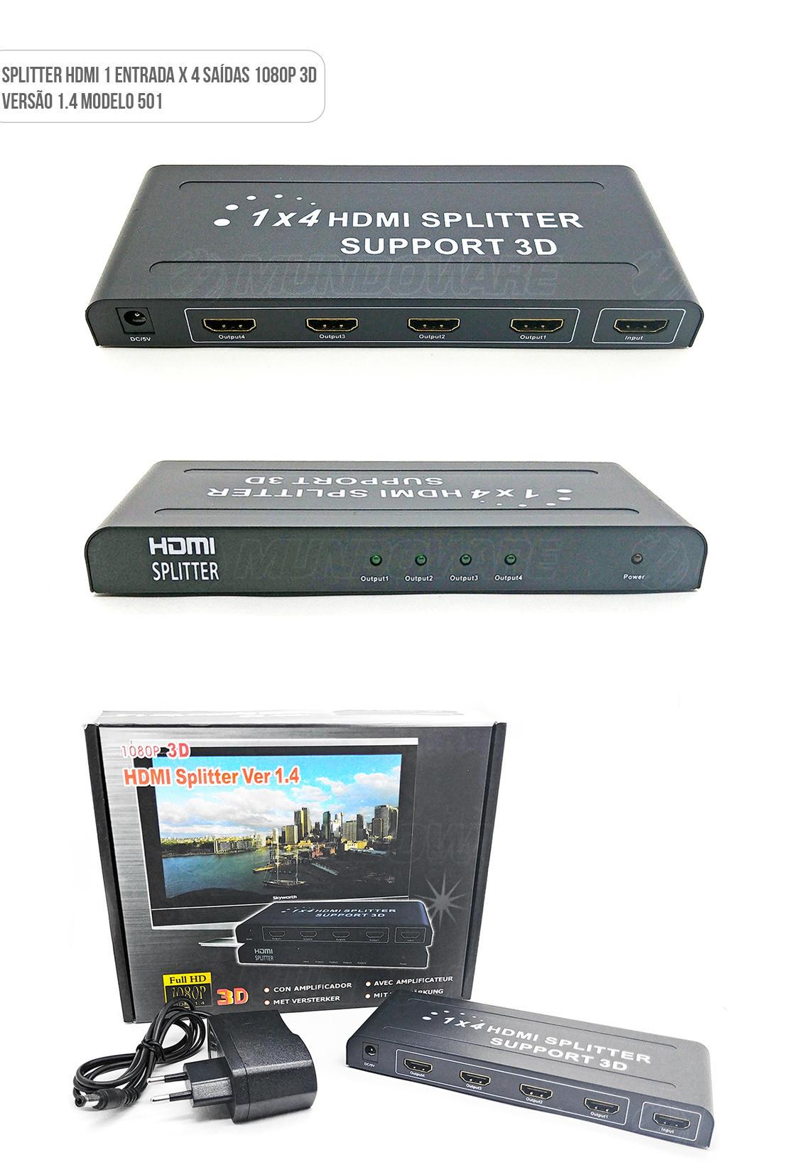Hub HDMI 1 x 4 Full HD Splitter