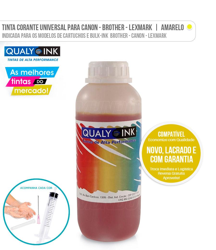 Tinta Corante Universal para Brother Canon Lexmark Amarelo