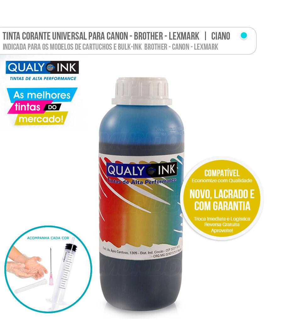 Tinta Corante Universal para Brother Canon Lexmark Ciano