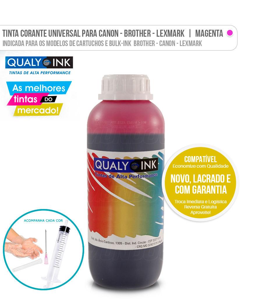 Tinta Corante Universal para Brother Canon Lexmark Magenta