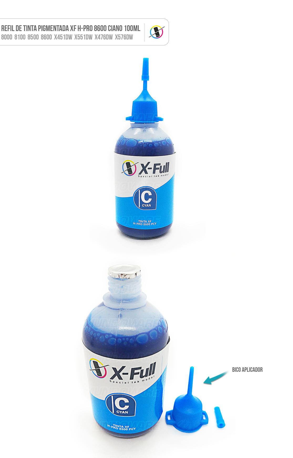 Tinta Ciano Pigmentada para Bulk-ink Tanque de Tinta impressora 8000 8100 8500 8600 X451dw X551dw X476dw X576dw