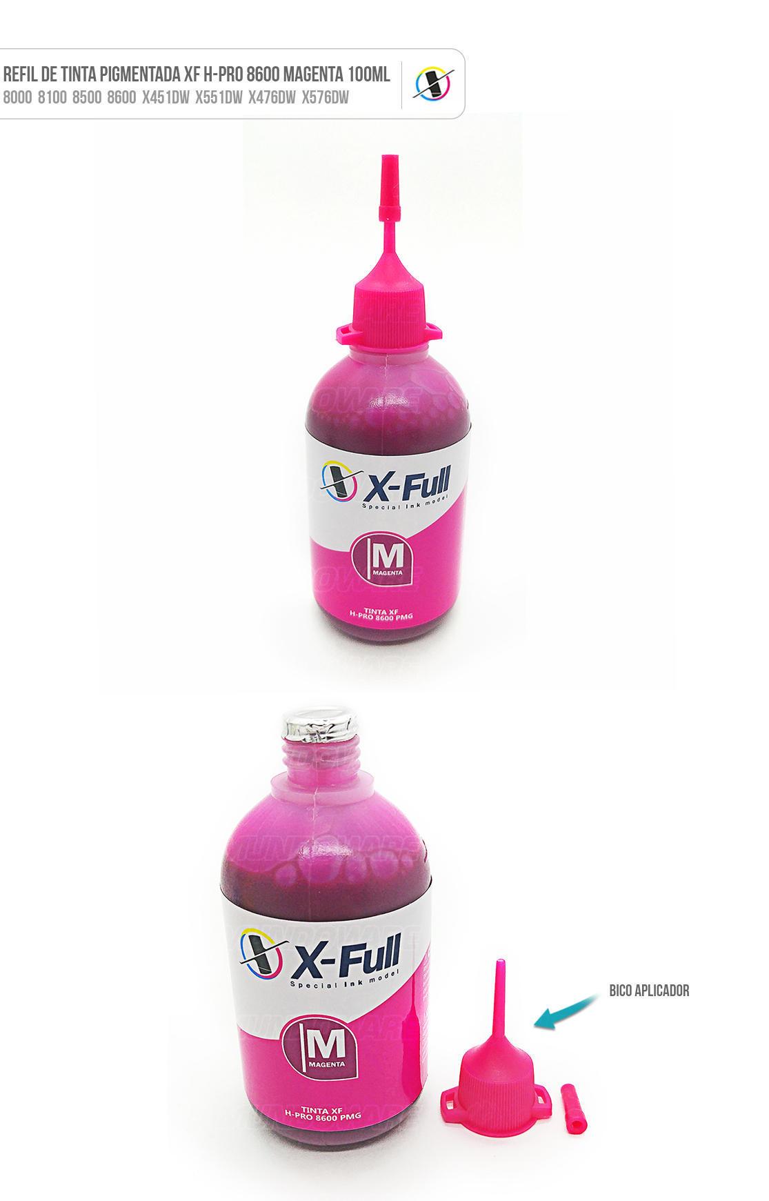 Tinta Magenta Pigmentada para Bulk-ink Tanque de Tinta impressora 8000 8100 8500 8600 X451dw X551dw X476dw X576dw