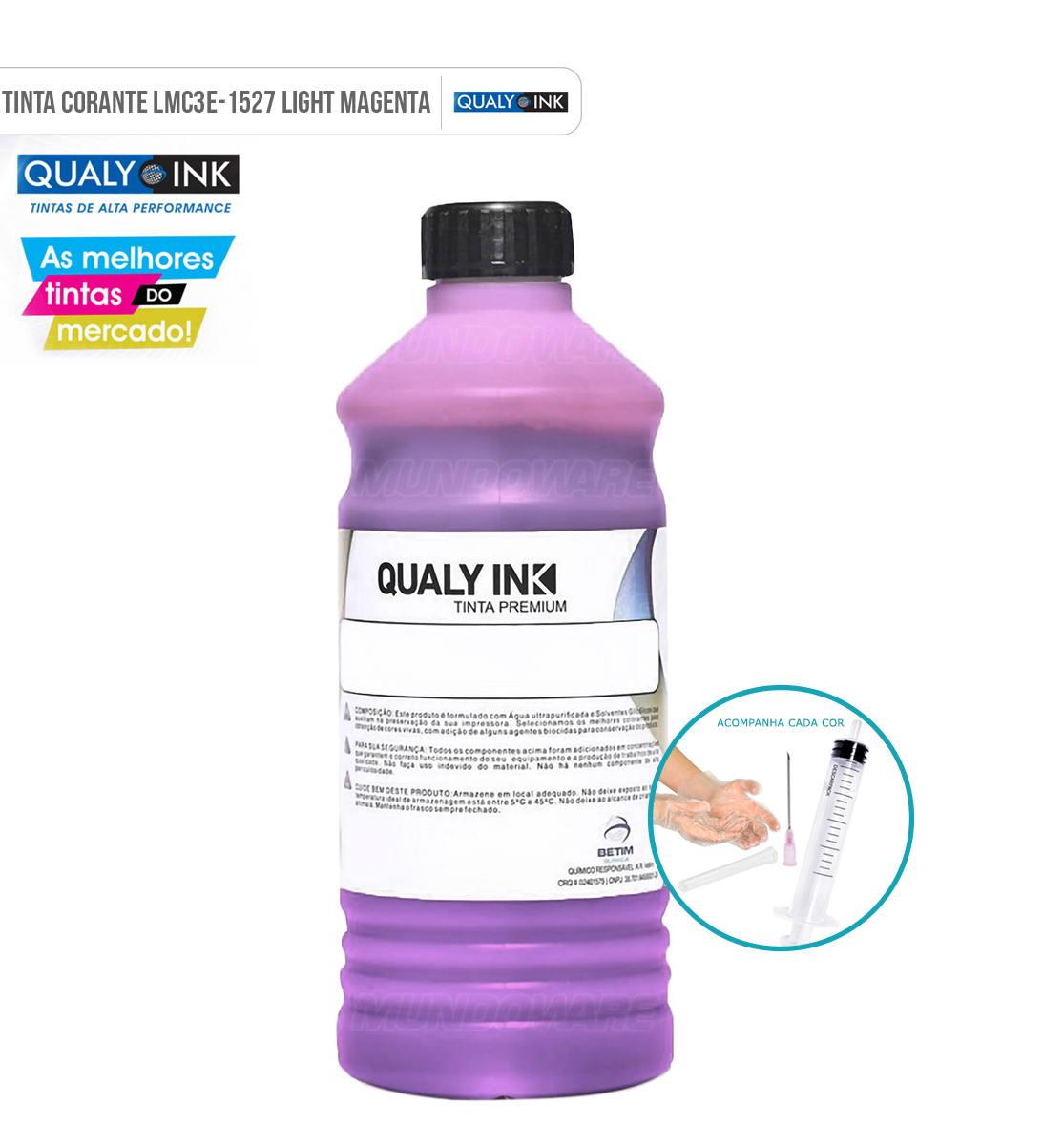 Refil de Tinta Qualy-Ink Magenta Light Corante para Epson série 673 impressoras L800 L805 L810 L850 L1800