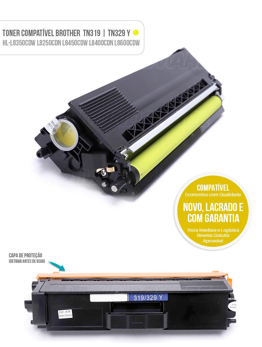 Color DCP-L8400CDN L8350CDW L8600CDW L8250CDN L8650DW Tonner Brother tn-319 tn-329 Yellow
