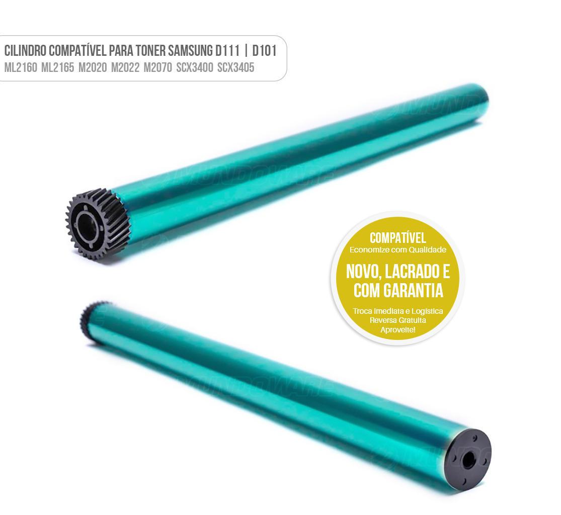 Cilindro para Toner D111 D101 Compatível com Samsung SCX3400 SCX3405 M2020 M2022 M2070 ML2160 ML2165