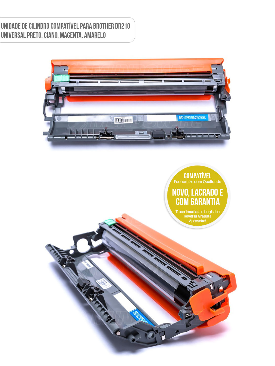 Unidade de Cilindro Compatível com DR210 para Toner Colorido TN210 impressora HL-3040CN HL-3070CW MFC-9120CN MFC-9320CW MFC-9325CW HL3040 HL3070 MFC9120 MFC9320 MFC9325