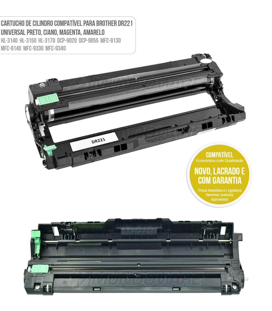 Drum Unidade de Cilindro Compatível com DR221 para Toner Colorido TN221 TN225 para impressora MFC9130CW MFC9330CDW MFC9340CDW HL3140CW HL3150CDN HL3170CDW