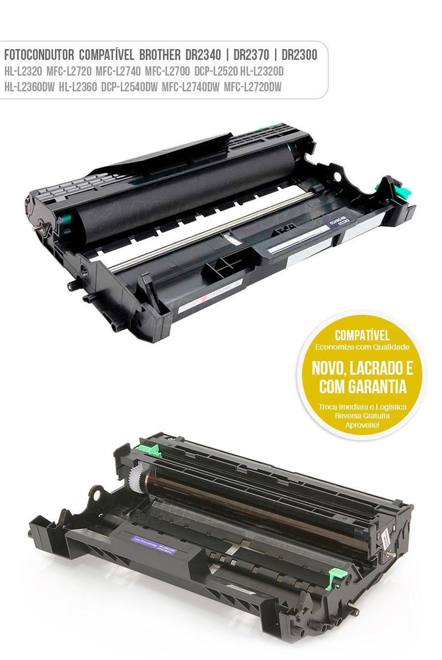 Drum Fotocondutor Tambor de Imagem Unidade Cilindro Kit DR 2340 2370 DR2300