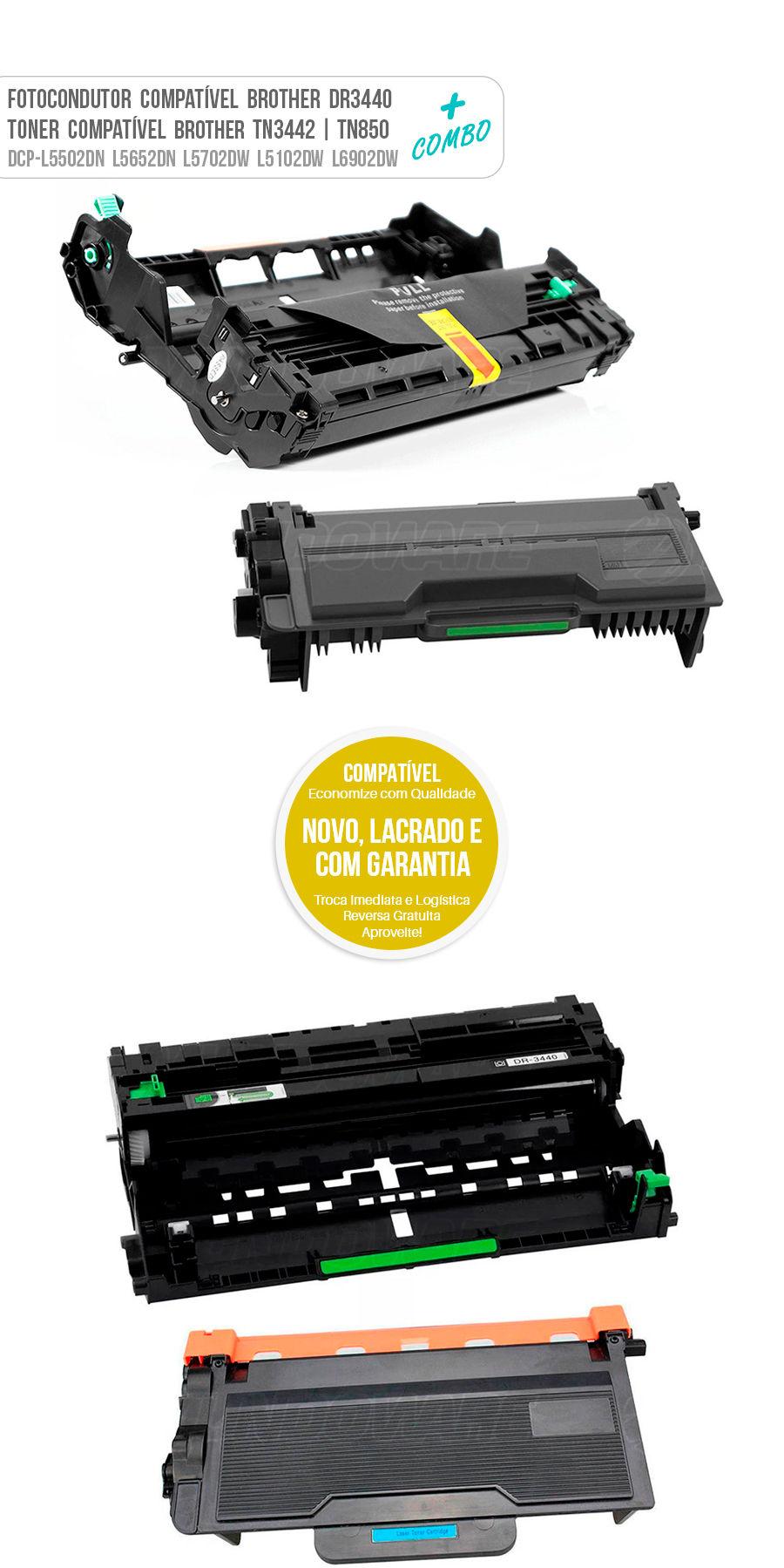 Drum Fotocondutor Tambor de Imagem Unidade Cilindro Kit DR DR3440 3440 TN850 3442 TN3442