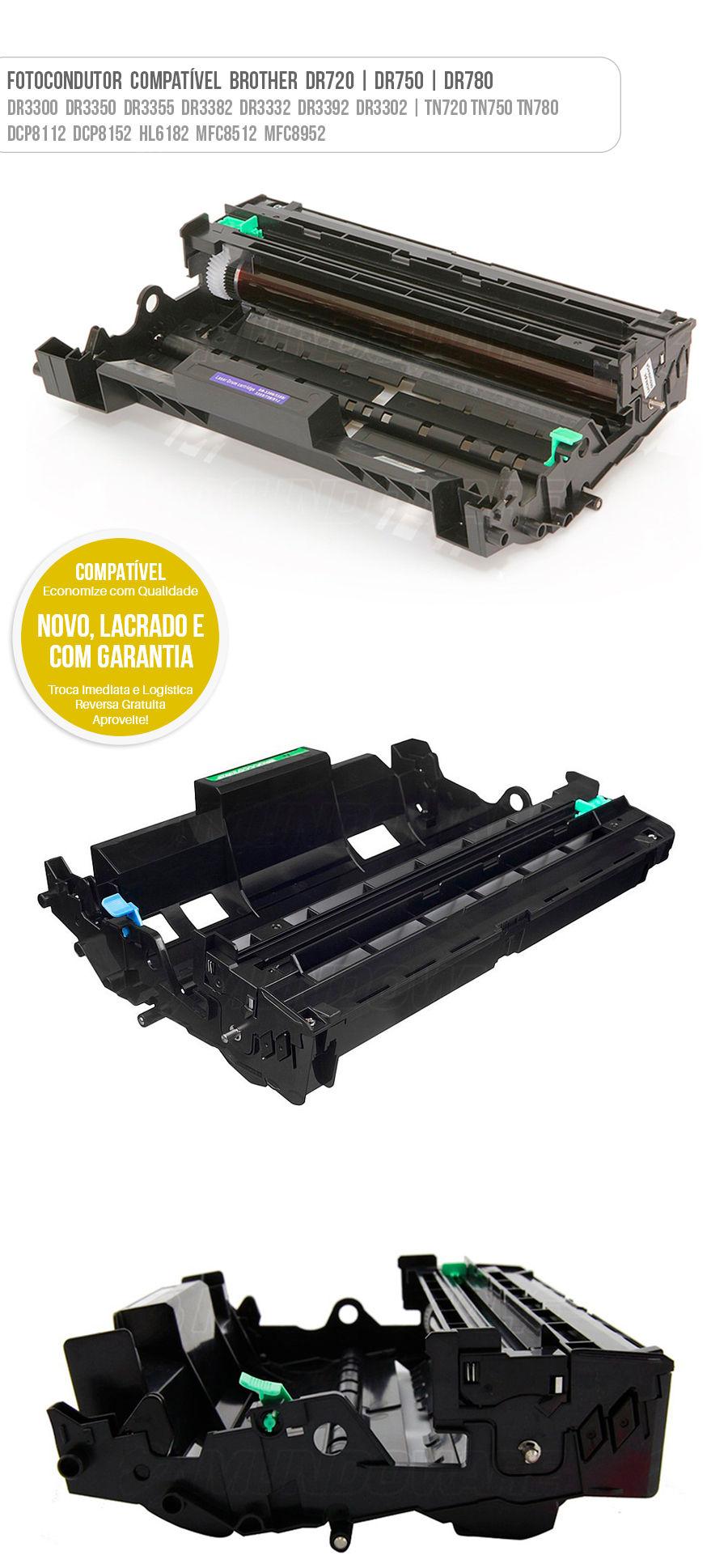 Drum Fotocondutor Tambor de Imagem Unidade Cilindro Kit DR