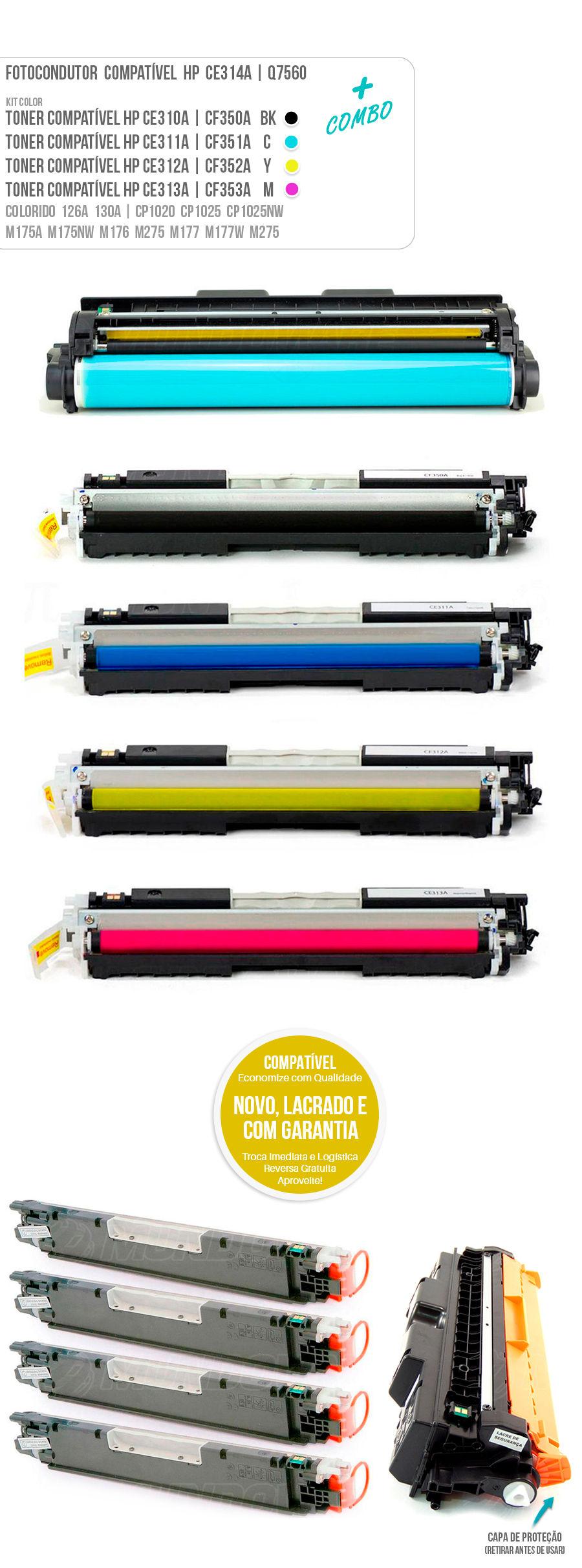 Drum Fotocondutor Tambor de Imagem Unidade Cilindro Kit DR Toner Tonner Cartucho ce314a 126a 130a
