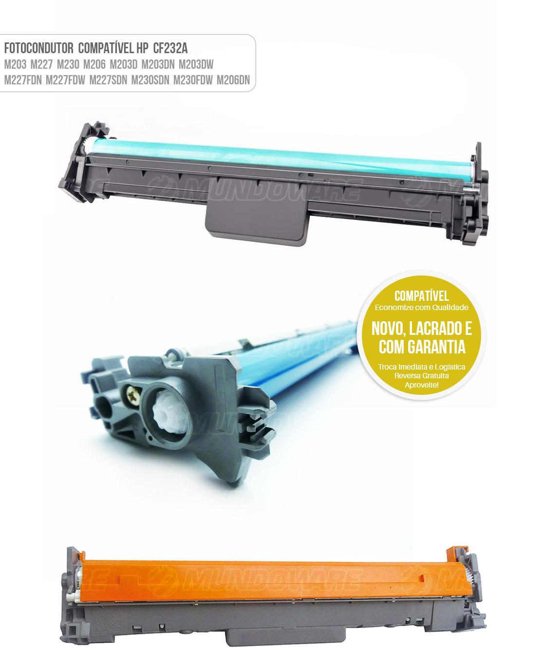 Cartucho de Cilindro Fotocondutor Compatível CF232 DR232A para impressora HP M203 M230 M206