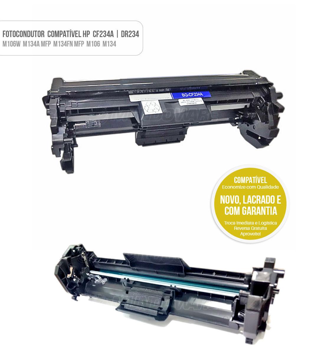 Cartucho de Cilindro Fotocondutor Compatível CF234 DR234A para impressora HP M106W M134A MFP M134FN MFP M106 M134