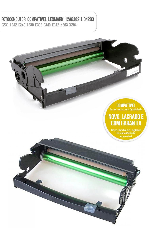 Drum Fotocondutor Tambor de Imagem Unidade Cilindro Kit DR Lexmark 12A8302  D4283  E230
