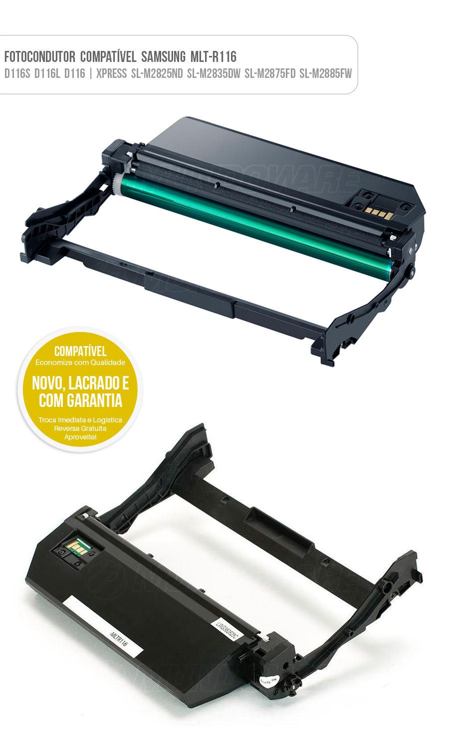 Drum Fotocondutor Tambor de Imagem Unidade Cilindro Kit DR Samsung R116 D116