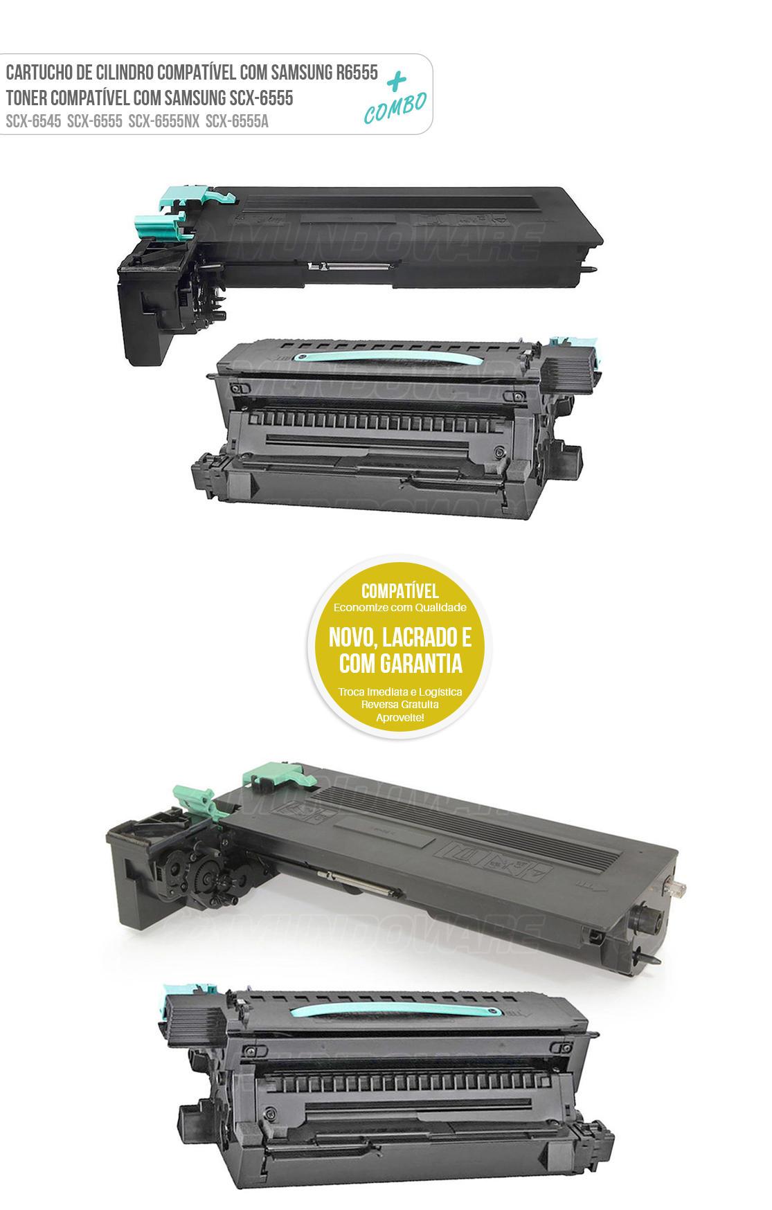 Cartucho de Cilindro + Toner Compatível para Samsung 6555 SCX-6555 SCX-6555NX SCX-6555N SCX-D6555A