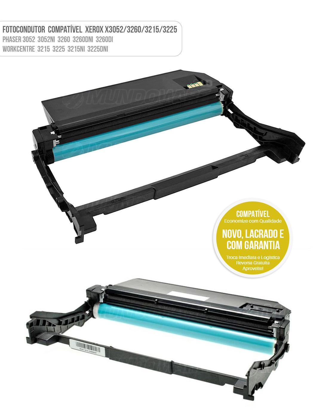 Cartucho de Cilindro Fotocondutor Compatível para impressora Xerox Phaser 3052 3052NI 3260 3260DNI 3260DI WorkCentre 3215 3225 3215NI 3225DNI 10K