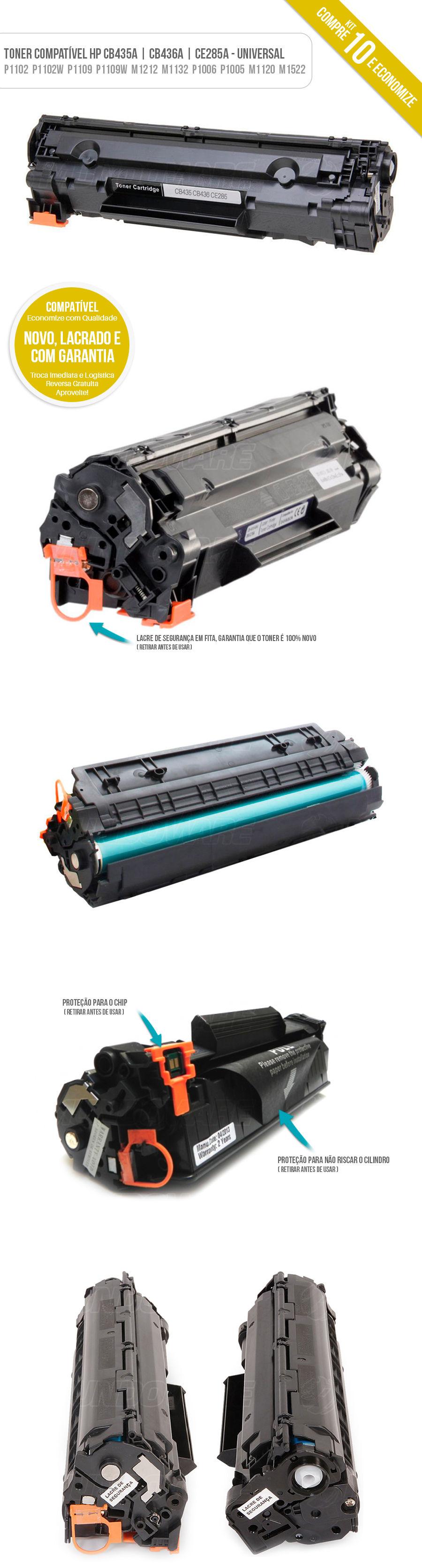 P1109 P1109W P1102W P1102 M1132 M1210 M1212 P1005 P1006 M1120 M1130 1102 1102W 1109 1109W Tonner Universal Misto Kit com 10 unidades