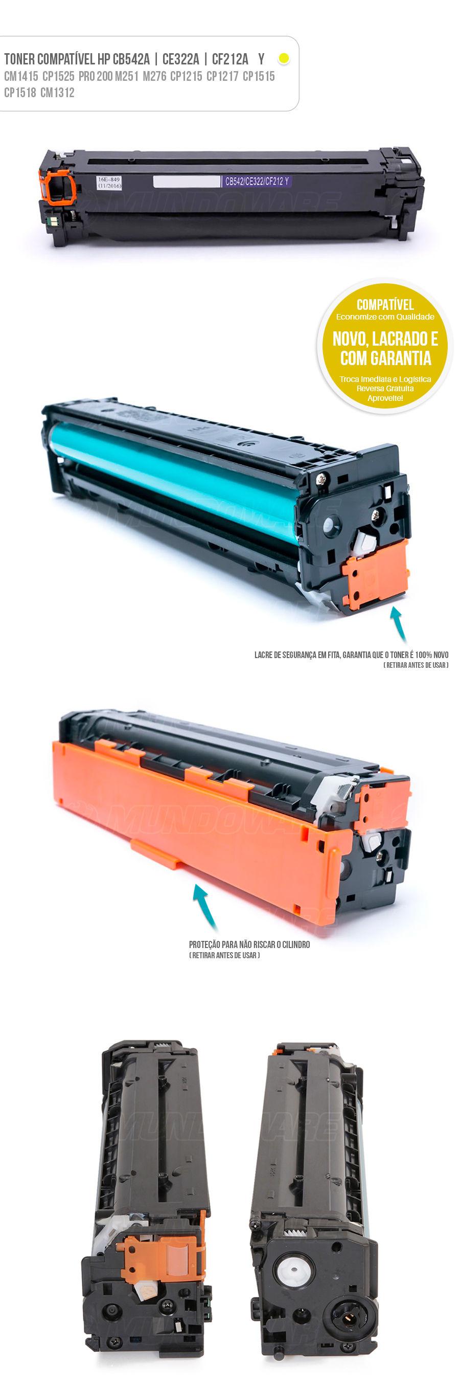 CP1215 CM1312 CM1415 CP1510 CP1525 CP1515 Pro200 M251 M251NW M276 M276N Tonner Colorido Color HP