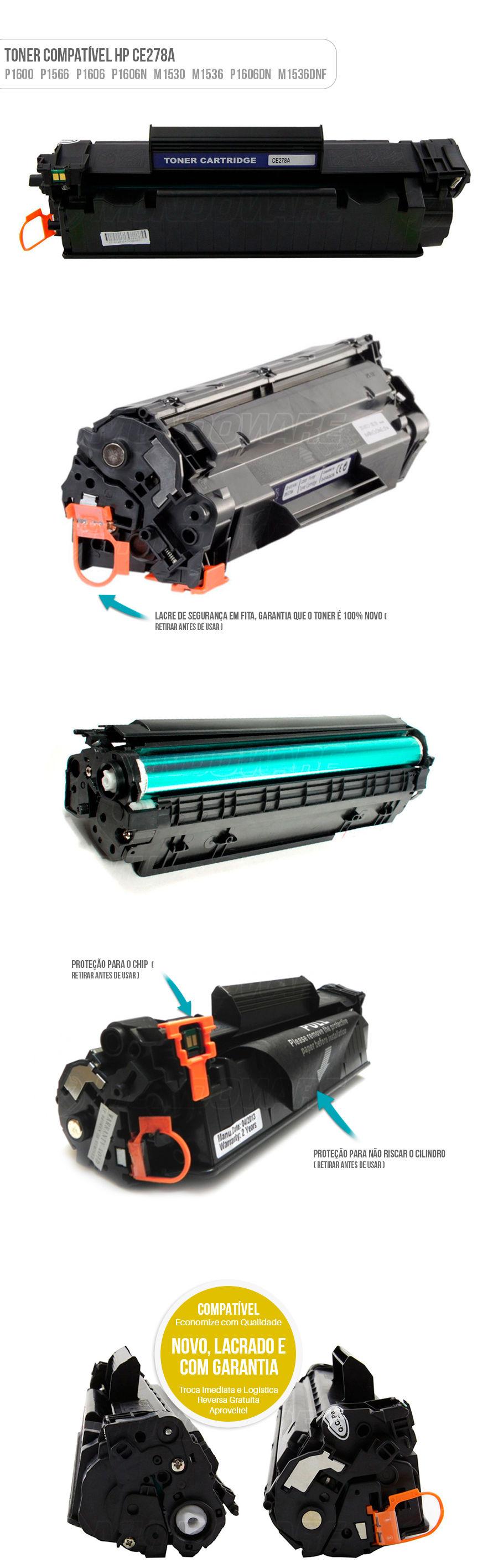 P1600 P1606 P1566 P1560 M1536 M1530 tonner compativel