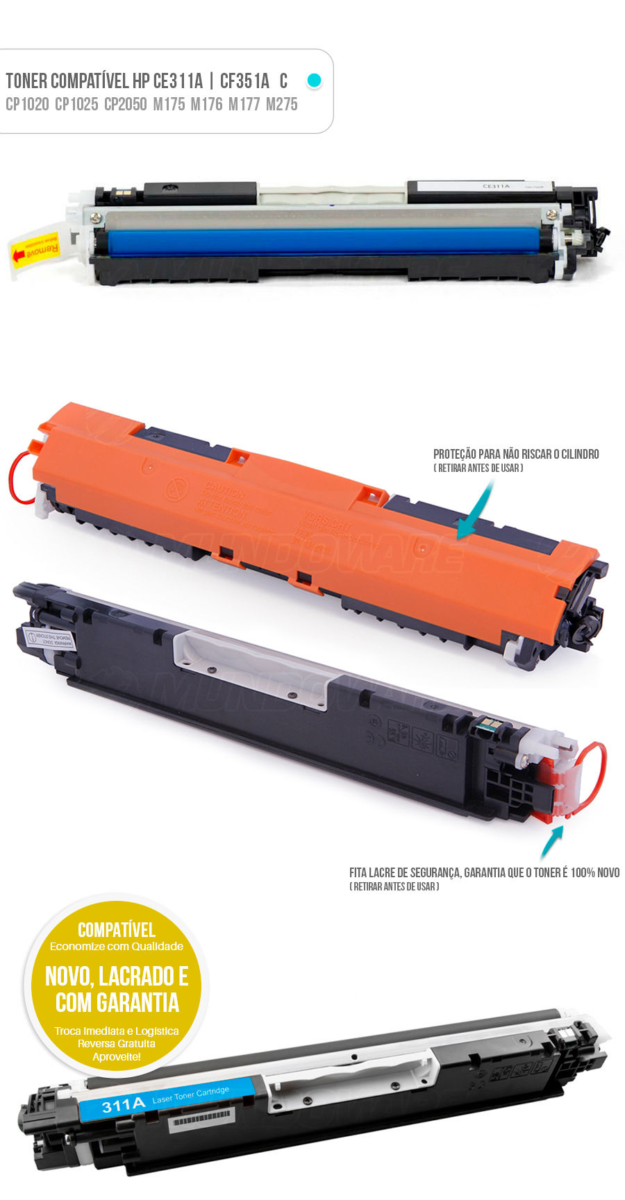 CP1020 CP1020WN CP1025 CP1025NW PRO100 M175 M175A M175NW M275 M275NW M176 M176N M177 M177FW Tonner Color HP Ciano