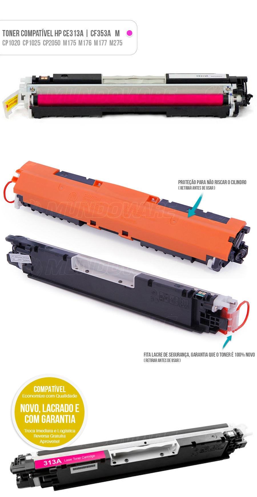 CP1020 CP1020WN CP1025 CP1025NW PRO100 M175 M175A M175NW M275 M275NW M176 M176N M177 M177FW Tonner Color HP Magenta