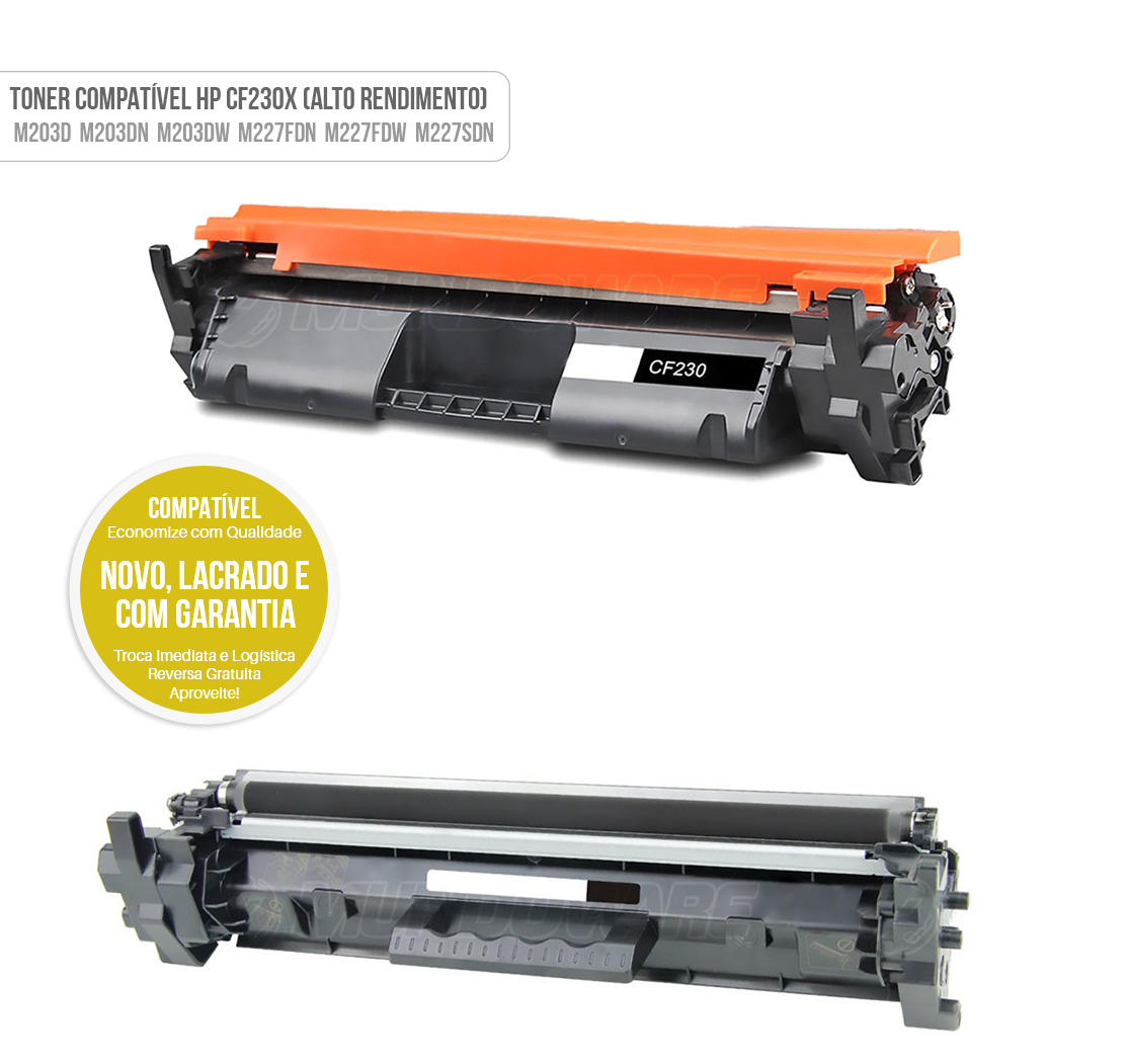 Toner Compativel CF230X 230X Alto Rendimento para M203 M203D M203DN M203DW M227 MFP M227FDN MFP M227FDW MFP M227SDN MFP