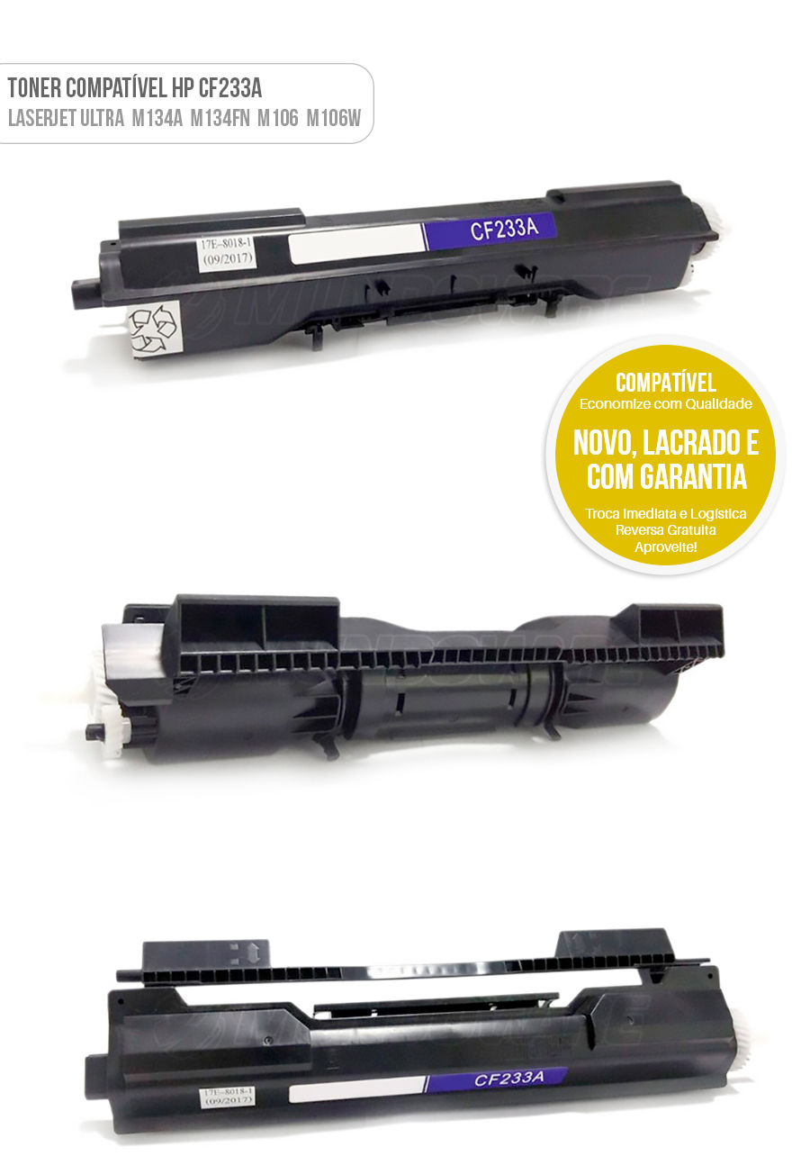 Toner Compativel CF233A 33A para HP Laserjet Ultra M134 MFP M134A MFP M134FN MFP M106 M106W