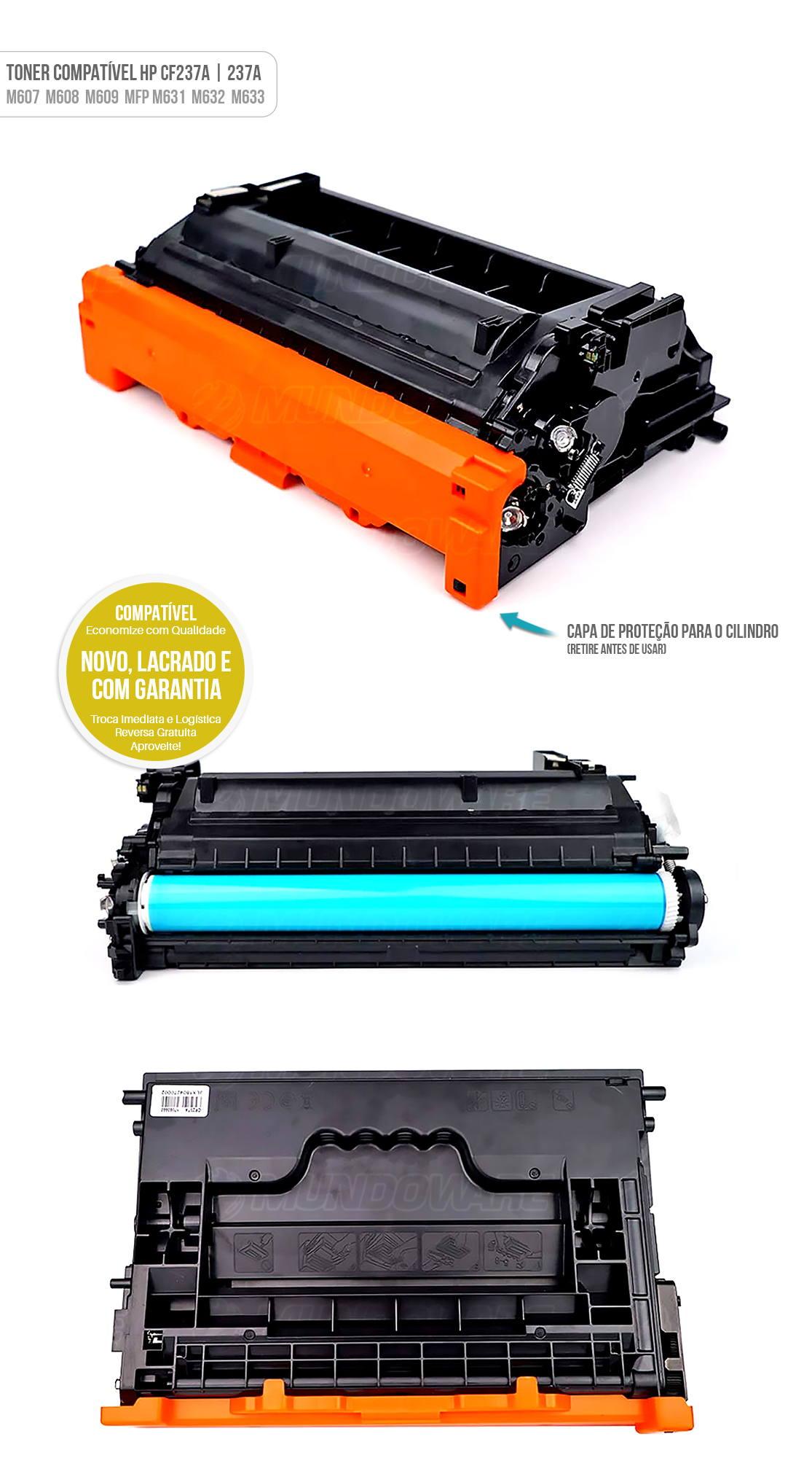 Toner Compatível modelo 237a cf237 cf237a para Impressora HP M607 M608 M609 MFP M631 M632 M633 M607dn M608dn M609dn Preto 11000 Tonner