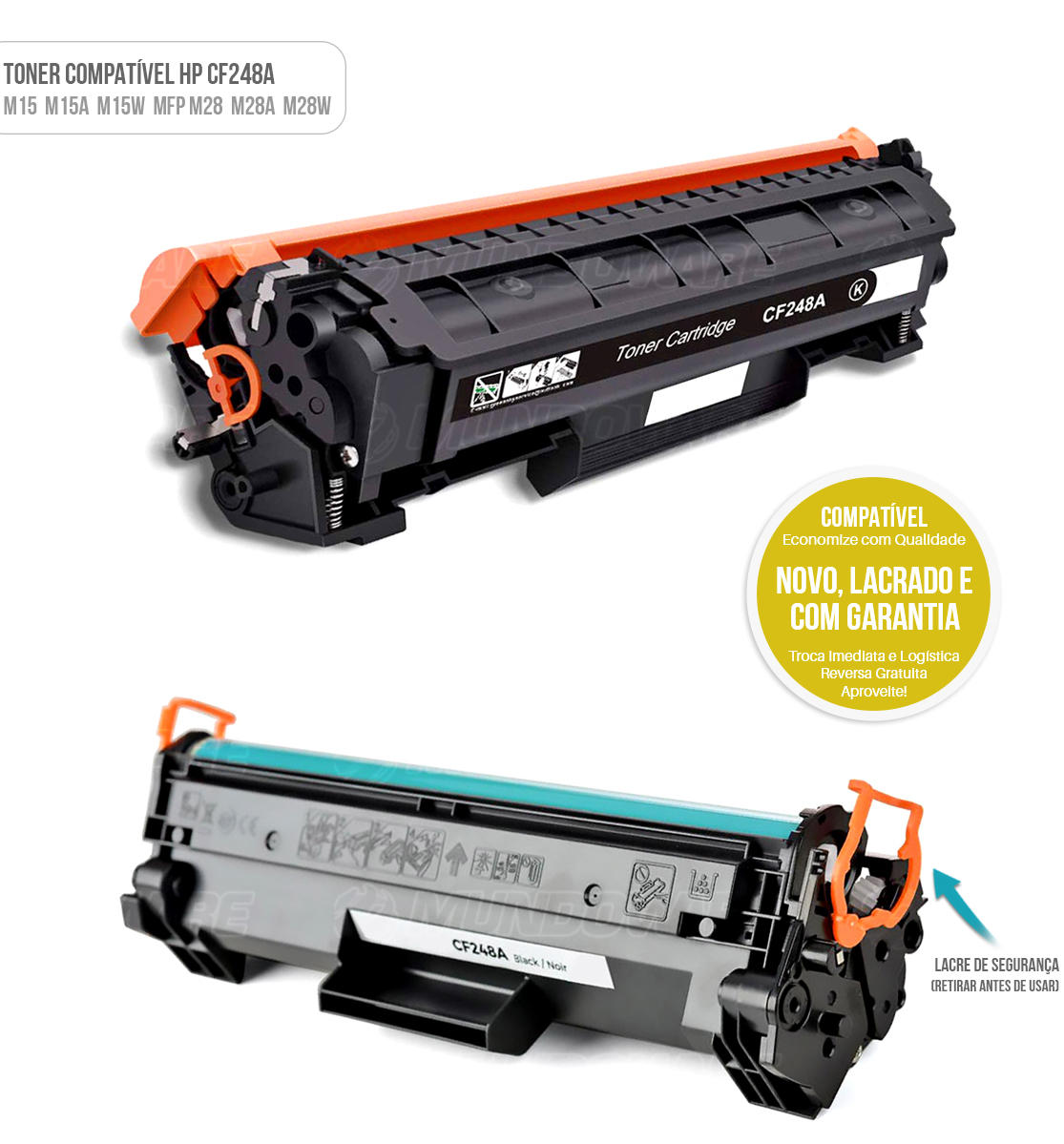 Toner Compatível CF248 248A para Impressora HP M15 M15A M15W MFP M28 M28A M28W Tonner