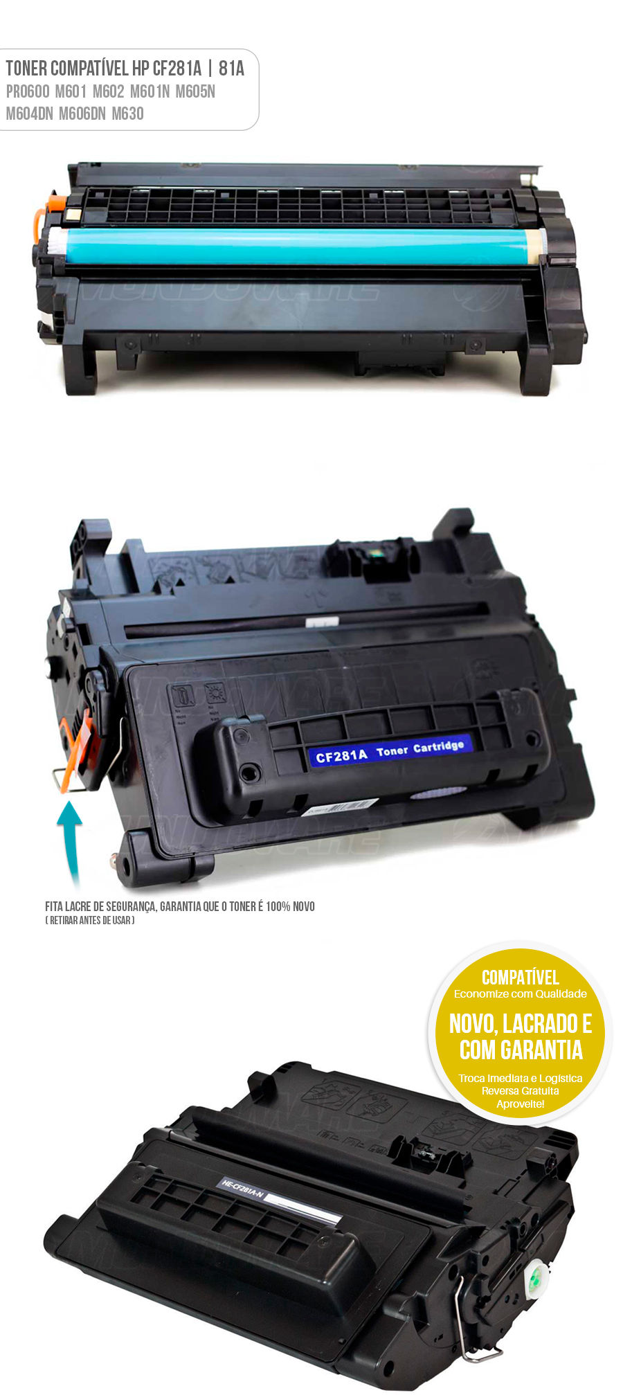 PRO600 M601 M602 M601N M605N M604DN M606DN M630 Tonner compativel para impressora laser