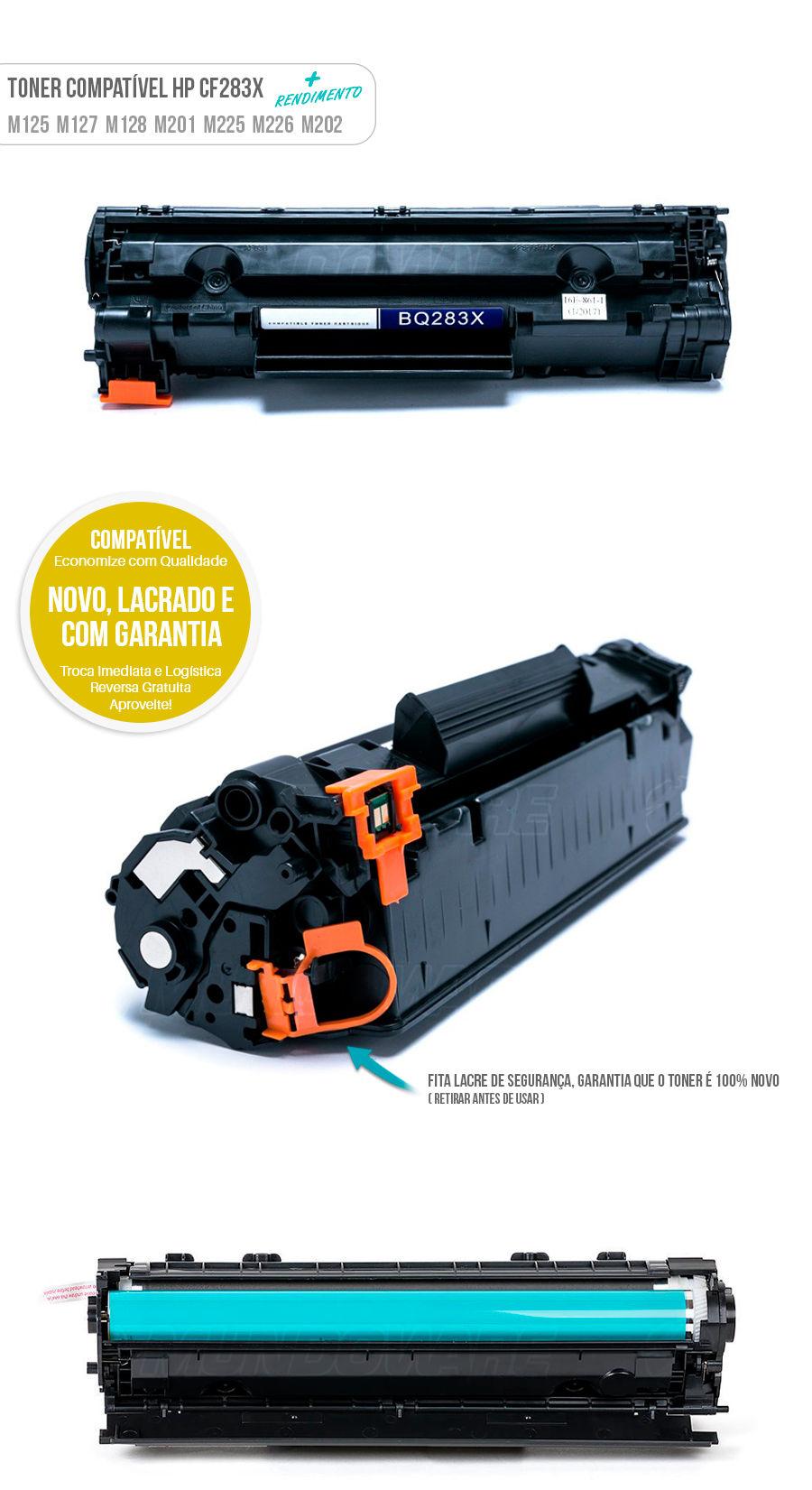 M125 M127FN M127FW M127 M125 M201 M225 M226 M202 M201DW Tonner HP maior rendimento 83X