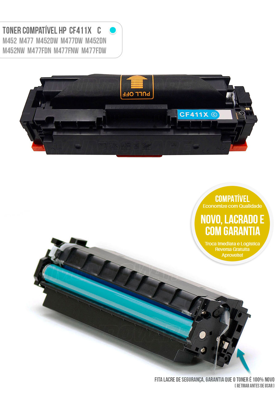 Color Laserjet M477 M452 M477FDW M452DN M477FNW M452NW Tonner HP 401X Ciano