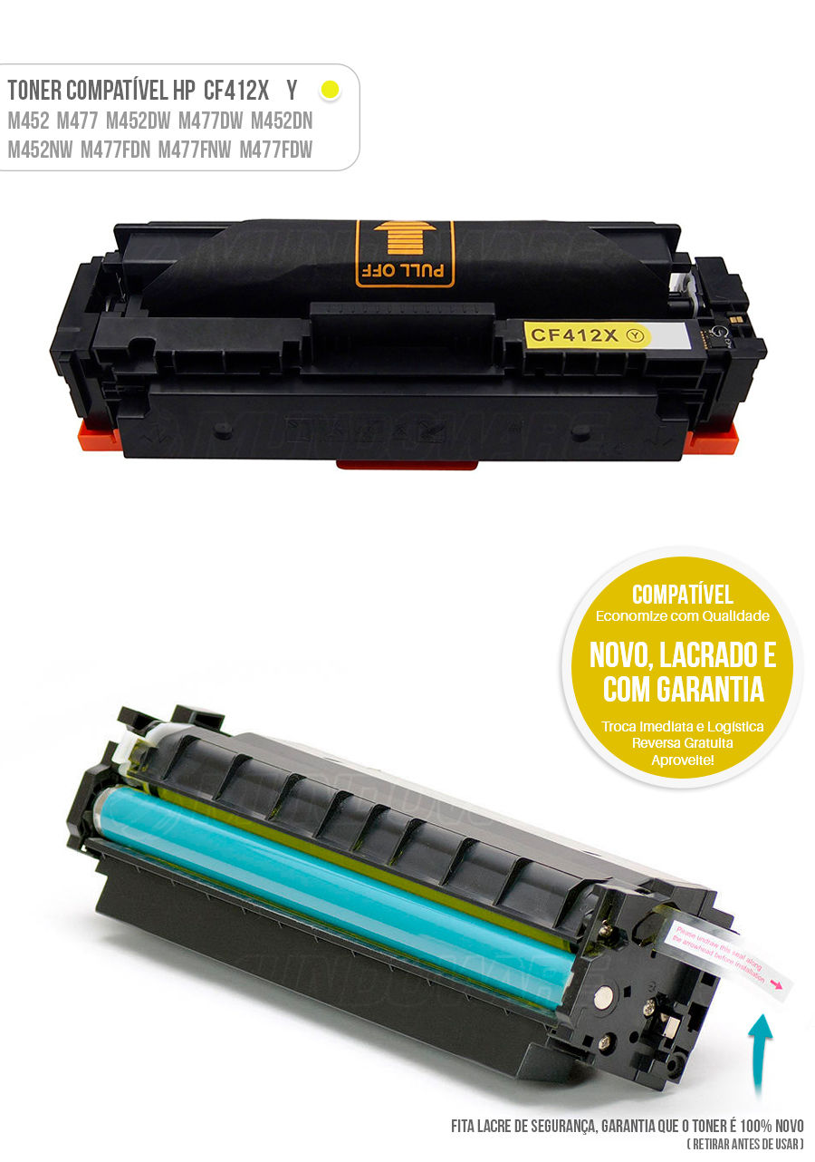 Color Laserjet M477 M452 M477FDW M452DN M477FNW M452NW Tonner HP 401X Yellow