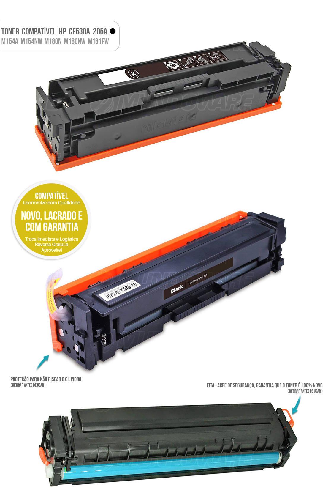 Toner para impressora Laser M154 M154A M154NW M180 M180N M180NW M181 M181FW Tonner Preto