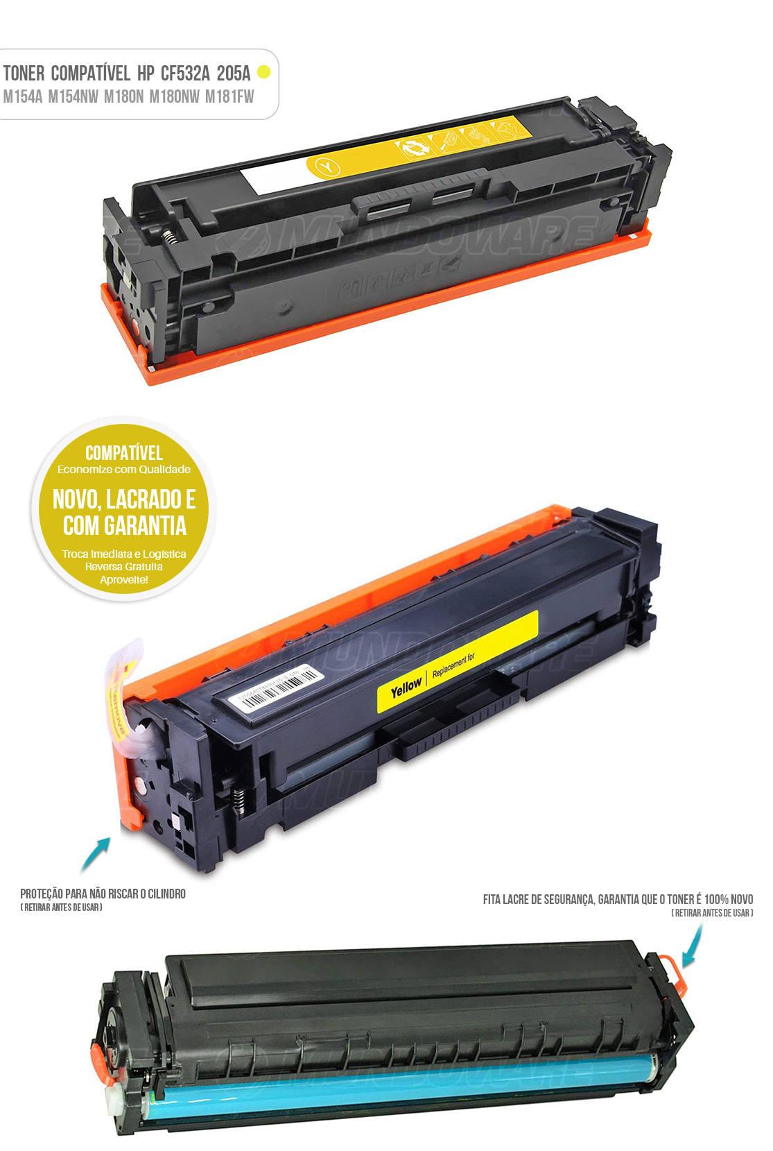 Toner para impressora Laser M154 M154A M154NW M180 M180N M180NW M181 M181FW Tonner Amarelo